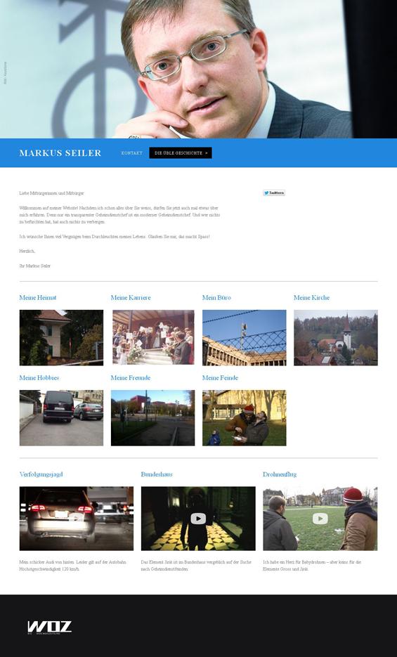 Internetseite von Markus Seiler