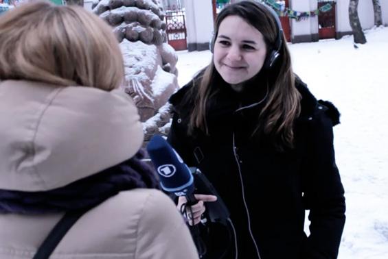 Pauline bei Interview-Freigeber