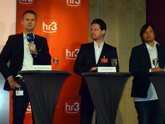 Gaben Einblicke in die Gestaltung des Senders (v.l.n.r.): Jan Vorderwülbecke, Christian Brost und Manuel Brandt. Bild: Jens Brehl CC BY-NC-SA 4.0