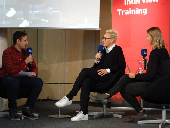 … sondern es hieß Live-Interviews vorbereiten und durchführen. Bild: Jens Brehl CC BY-NC-SA 4.0