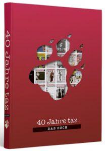 Cover Jubiläumsband 40 Jahre taz