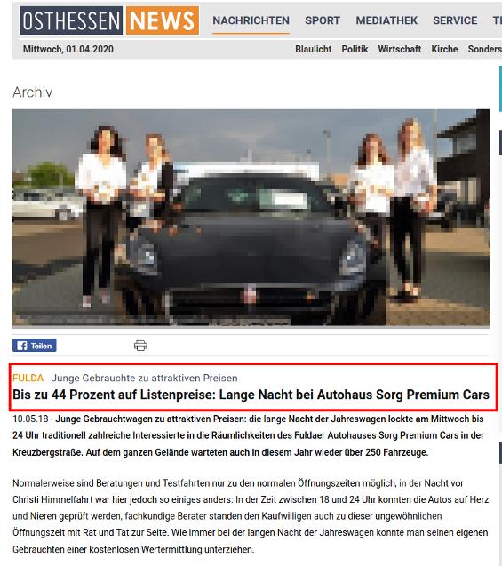 Schleichwerbung bei Osthessen News